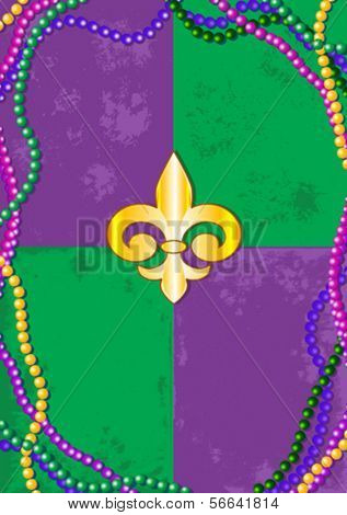 Mardi Gras design with place for text