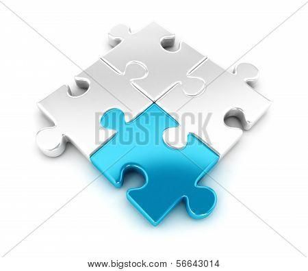 3d pieces of puzzle
