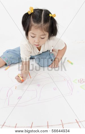 The girl who draws a picture