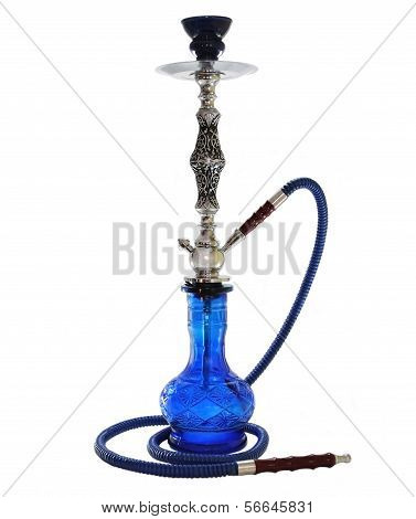 Blue Hookah isolated on white.