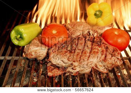 Two grilled Beef steaks XXXL