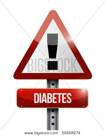 Diabetes Road Sign Illustration Design