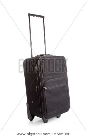 A Black Suitcase With Wheels