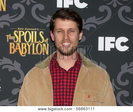 "LOS ANGELES - JAN 7:  Jon Heder at the IFC's ""The Spoils Of Babylon"" Screening at Directors Guild of America on January 7, 2014 in Los Angeles, CA"