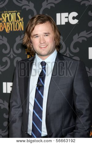 "LOS ANGELES - JAN 7:  Haley Joel Osment at the IFC's ""The Spoils Of Babylon"" Screening at Directors Guild of America on January 7, 2014 in Los Angeles, CA"