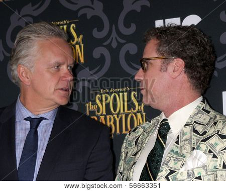 LOS ANGELES - JAN 7:  Tim Robbins, Will Ferrell at the IFC's