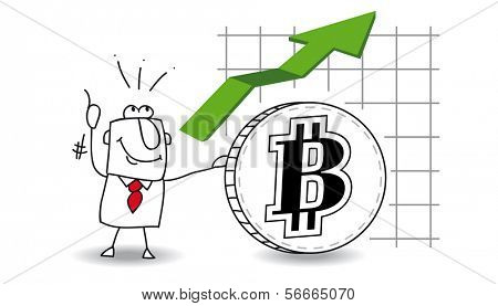 fluctuation of the Bit coin up