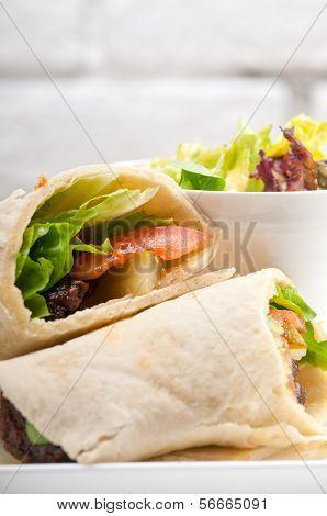 Chicken Pita Wrap Roll Sandwich