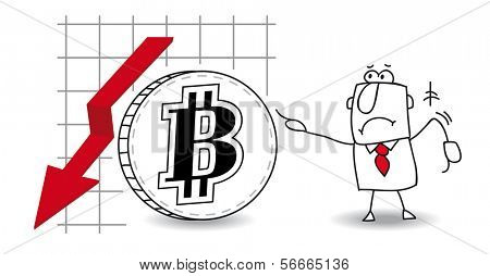 fluctuation of the bitcoin down