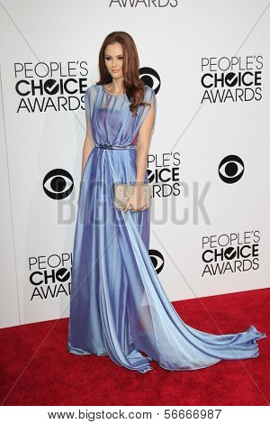 LOS ANGELES - JAN 8:  Alyssa Campanella at the People's Choice Awards 2014 Arrivals at Nokia Theater at LA LIve on January 8, 2014 in Los Angeles, CA