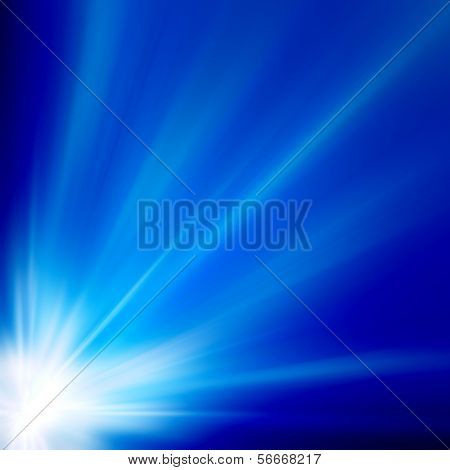 Save to a Lightbox ? Find Similar Images Share ? Sun on blue sky with lenses flare