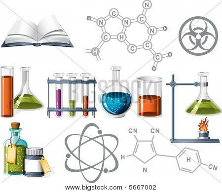Ciencia y los iconos de la química