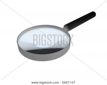 Shiny Reflective Magnifying Glass With Black Handle