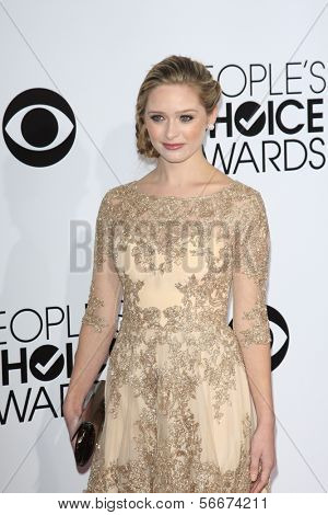 LOS ANGELES - JAN 8:  Greer Grammer at the People's Choice Awards 2014 Arrivals at Nokia Theater at LA LIve on January 8, 2014 in Los Angeles, CA