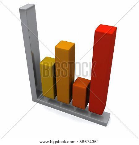Business graph, 3d