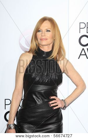 LOS ANGELES - JAN 8:  Marg Helgenberger at the People's Choice Awards 2014 Arrivals at Nokia Theater at LA LIve on January 8, 2014 in Los Angeles, CA