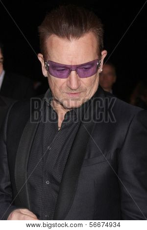 PALM SPRINGS - JAN 4:  Bono at the Palm Springs Film Festival Gala at Palm Springs Convention Center on January 4, 2014 in Palm Springs, CA