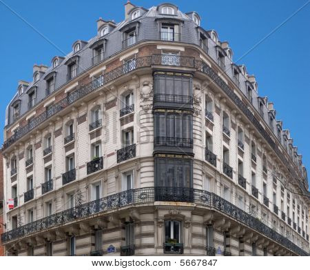 Paris Architecture - H. Malot corner house