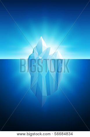 Ilustración vectorial del iceberg. Todos los elementos son capas por separado en archivo vectorial.