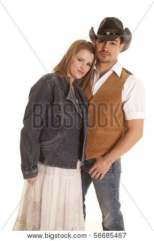 Cowboy Vest Woman Jacket Together