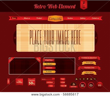 Retro Web Element