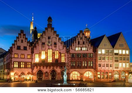 Town Hall Of Frankfurt At Twilight