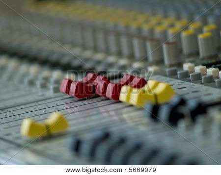 Professional Audio Mixing Console. Tv Studio.