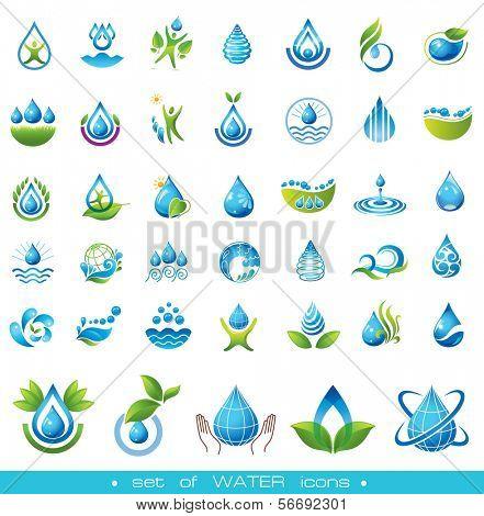 Satz von Wasser-Symbole.