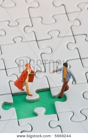 Couple missing piece