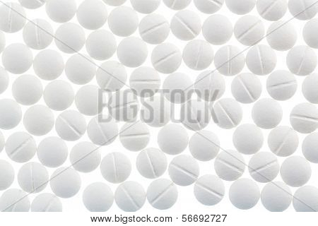 white tablets, symbol photo for medicine, remedies and painkillers