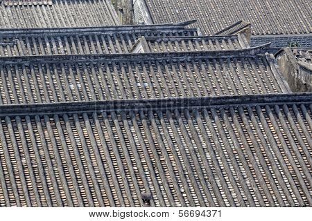 roofs of ancient houses, Bedalinu outpost, China