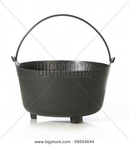 caldron - black kettle isolated on white background