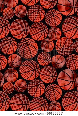 Basketball halftone pattern.