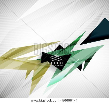 Motion geometric shapes - rapid straight lines for infographics | business background | numbered banners | business lines | graphic website layout vector