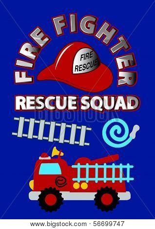 Fire fighter rescue squad