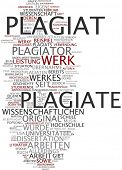 picture of plagiarism  - Word Cloud  - JPG