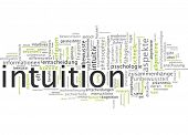 stock photo of intuition  - Word cloud  - JPG
