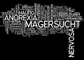 picture of anorexia nervosa  - Word cloud  - JPG