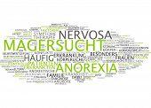 stock photo of anorexia nervosa  - Word cloud  - JPG