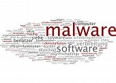 stock photo of malware  - Word cloud  - JPG