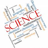 pic of criminology  - Science Word Cloud Concept Angled with great terms such as biology earth ecology natural and more - JPG