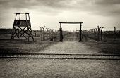 stock photo of auschwitz  - Nazi Concentration Camp Auschwitz Birkenau - JPG