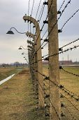 stock photo of nazi  - Nazi Concentration Camp Auschwitz Birkenau - JPG