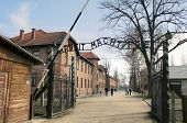 stock photo of hitler  - Arbeit macht frei sign  - JPG