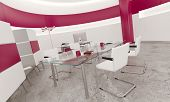 Modern design pink office interior