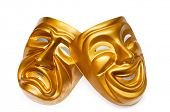 stock photo of stage theater  - Masks with the theatre concept - JPG
