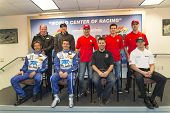 Daytona Beach, FL - Jan 03, 2014:  The Chip Ganassi Racing with Felix Sabates drivers field media qu