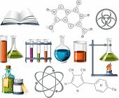 pic of retort  - Science and Chemistry Icons on the white - JPG
