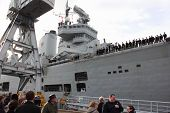 HMS Illustrious returns from the Philippines