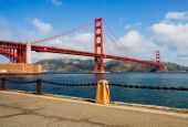 stock photo of golden gate bridge  - Beautiful Golden Gate Bridge in San Francisco - JPG
